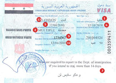 View samples of travel visas visacentral uk get a visa for travel to syria altavistaventures Choice Image